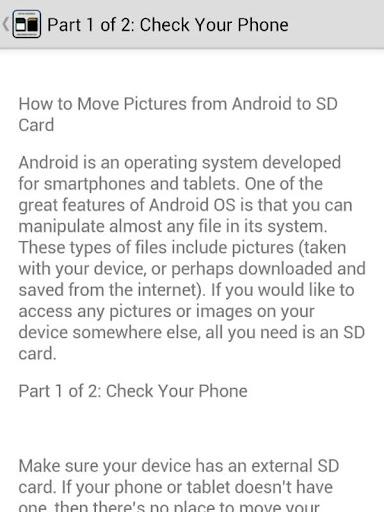 Move Photos to SD Card Tip