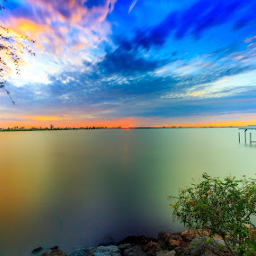 Florida Sunset two days ago with Karen Simpson by Perry Churchill - Landscapes Sunsets & Sunrises