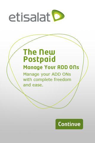 Postpaid Manage Add Ons