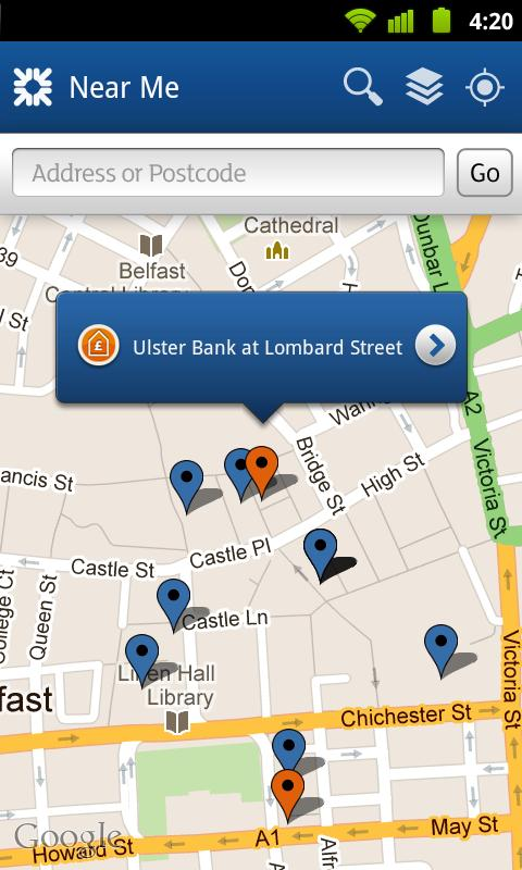 Ulster Bank NI - screenshot