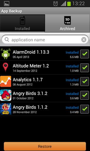 App Backup  screenshots 4