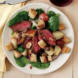Steak-and-Potato Salad with Mustard Dressing.