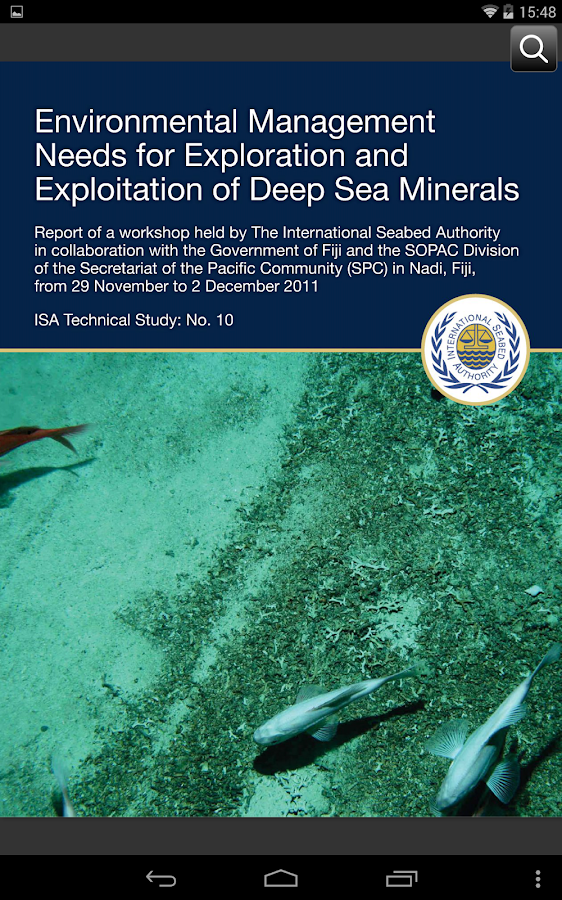 International Seabed Authority- screenshot