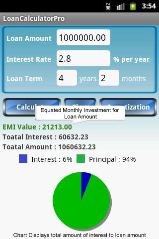 Loan Calculator Pro - screenshot