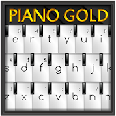 Piano Gold GO Keyboard Theme