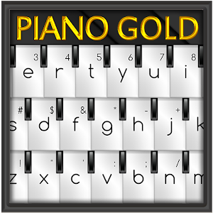 Free Apk android  Piano Gold GO Keyboard Theme 1.0  free updated on