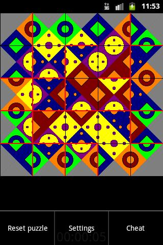 EdgeMatching Puzzle - screenshot