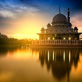 PINK MOSQUE by WanUkay Perdana - Buildings & Architecture Other Exteriors ( muslim, mosque sunrise, putrajaya, pink mosque, malaysia )