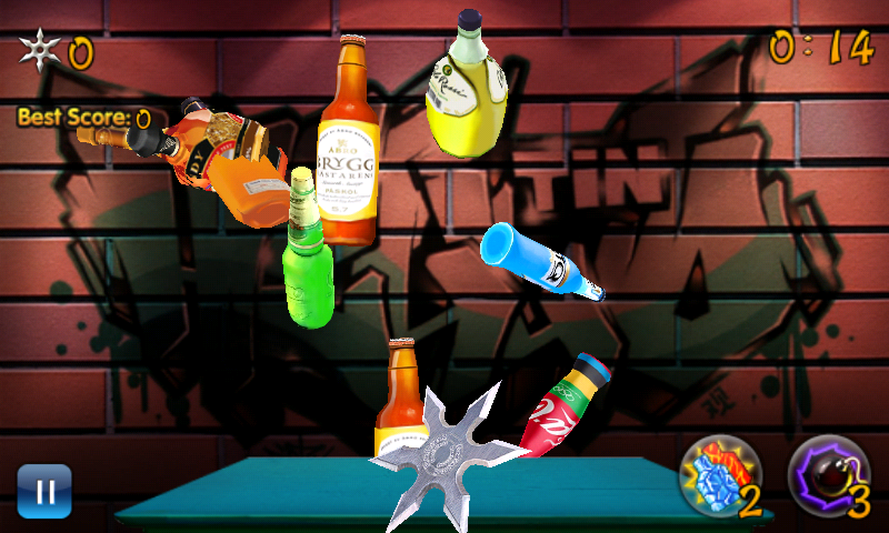 Bottle Shuriken - screenshot
