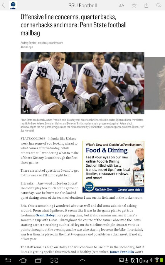 PennLive: Penn State Football- screenshot