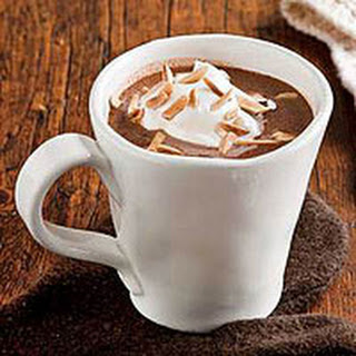 Nougat Hot Chocolate with Whipped Cream Recipe