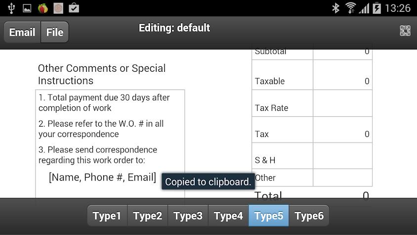 Work Orders Screenshot