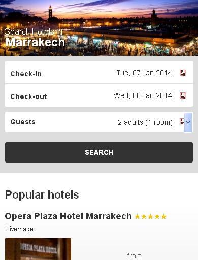 Marrakech Hotel finder