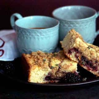 Blackberry-Thyme Crumb Cake