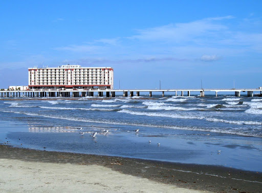 A beach in Galveston, Texas.