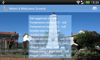Screenshot of Meteo & Webcams Soveria