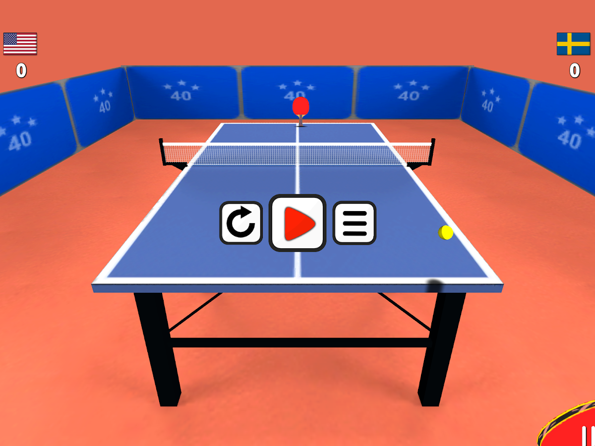 Screenshots of Table Tennis 3D for iPhone
