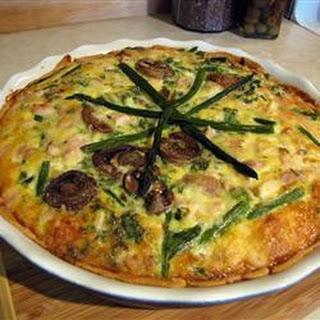 Asparagus Chicken Quiche.
