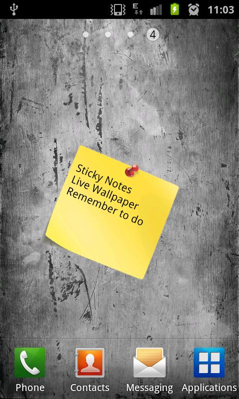 Sticky Notes Live Wallpaper - screenshot