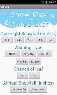 Snow Day Calculator - screenshot thumbnail