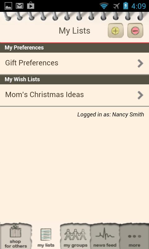 Giftster - Wish List Registry - screenshot