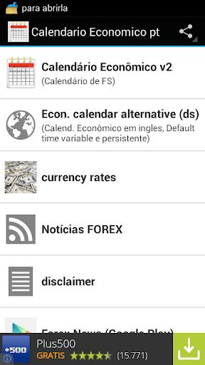 Calendário Econômico pt br