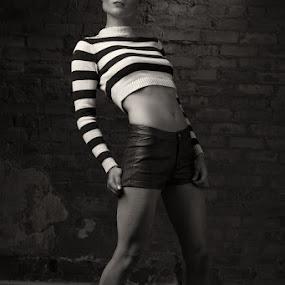 Give me shelter by Jason Ball - People Fashion ( fit, blackandwhite, model, beautiful, art, artistic )