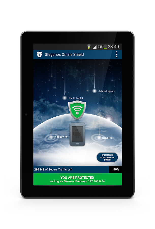 Steganos Online Shield VPN - screenshot