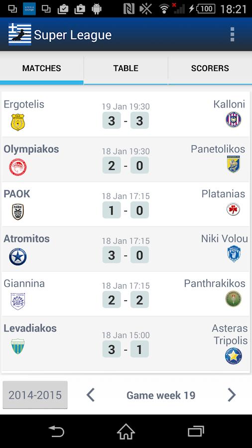 Σούπερ Λίγκα Ελλάδα - screenshot