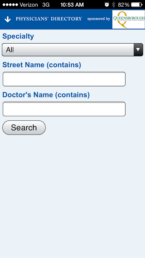 Augusta Physicians' Directory - screenshot