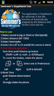 Swimmer's StopWatch free - screenshot thumbnail