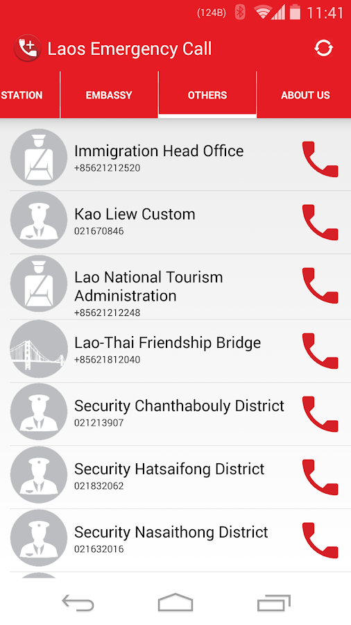 Laos Emergency Call- screenshot