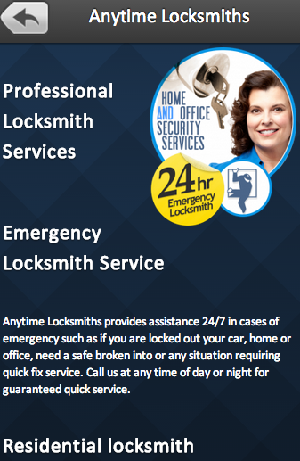 Anytime Locksmiths - screenshot