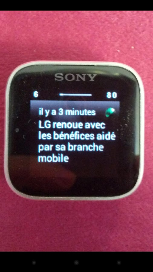FrAndroid SmartWatch Notifier - screenshot