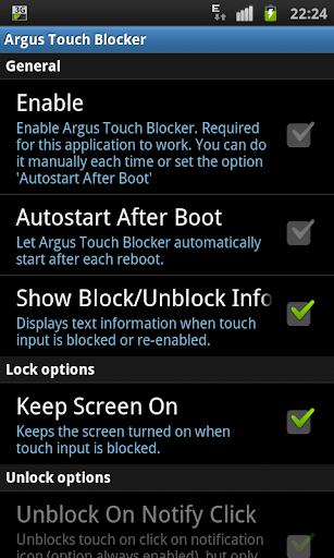 Screen Lock Disable Touch Pro