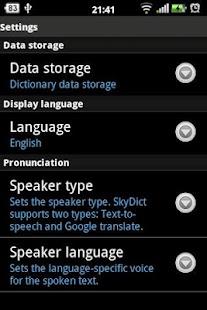 Từ điển SkyDict - screenshot thumbnail