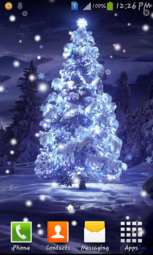 Christmas glowing tree LWP