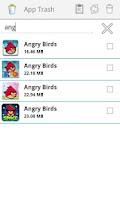 Screenshot of App Trash