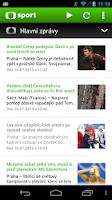 Screenshot of ČT sport