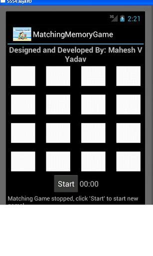Matching Cards Memory Game
