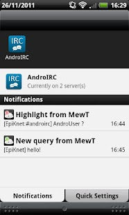 AndroIRC - screenshot thumbnail