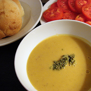 Fresh Cranberry Bean Soup with Basil-Walnut Pesto