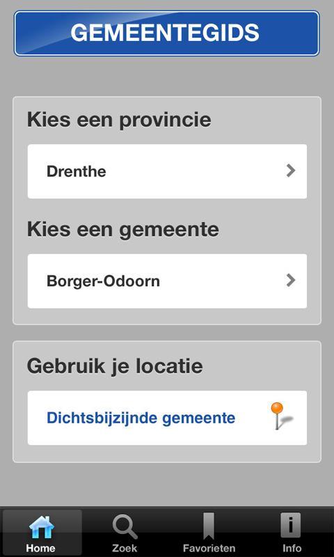 Gemeentegids voor Tablets- screenshot