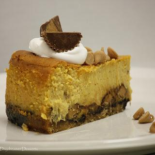 Reese's Chunk Pumpkin Cheesecake