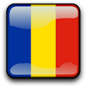 Romania Flag Clock Widget