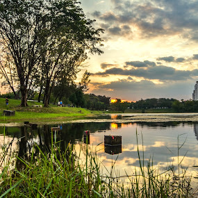 The Sunset in Subang Lake by Kelvin OY - Landscapes Sunsets & Sunrises