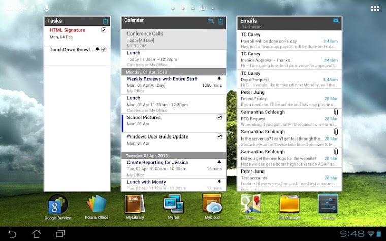 TouchDown HD Screenshot