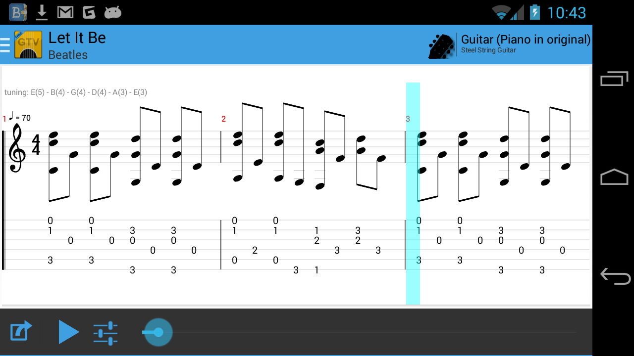 Guitar Tab Viewer- screenshot