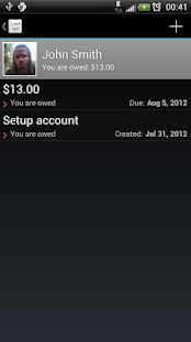 IOU - debt manager - screenshot thumbnail