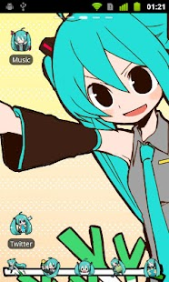GO Launcher EX Theme -Miku- Screenshot 1